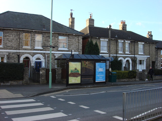 Bus stop on Melford Road