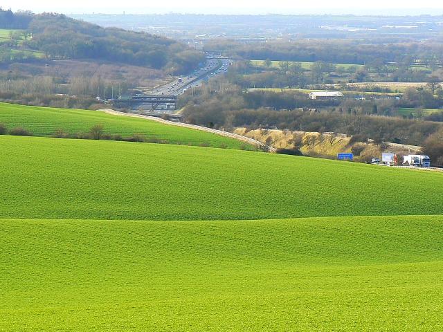 Farmland between the Ridgeway and the M4, Liddington