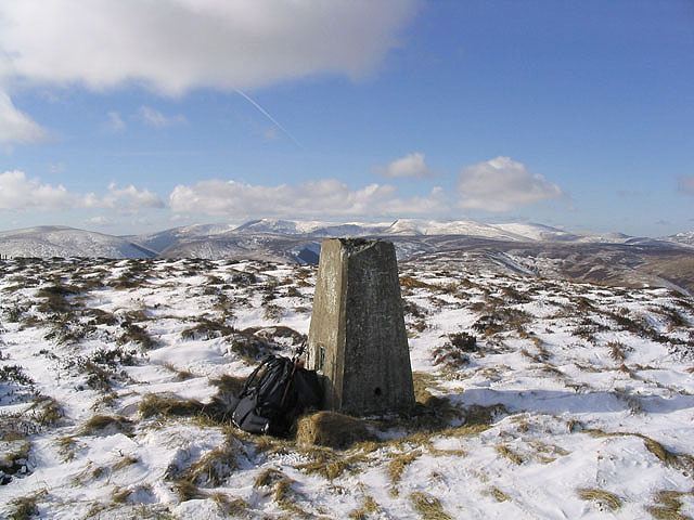 The trig point on The Wiss