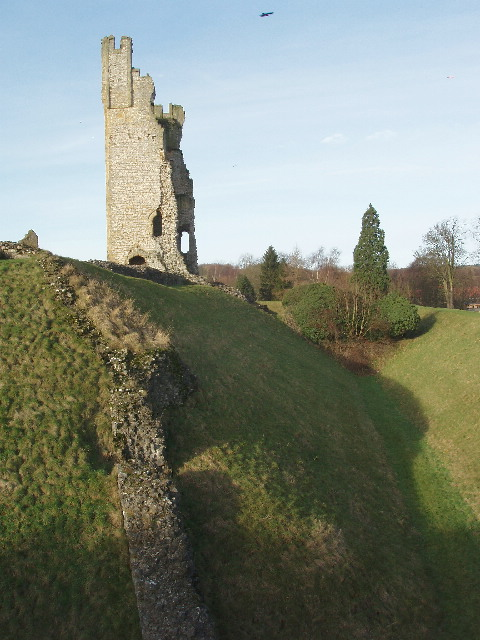 East tower and moat, Helmsley Castle
