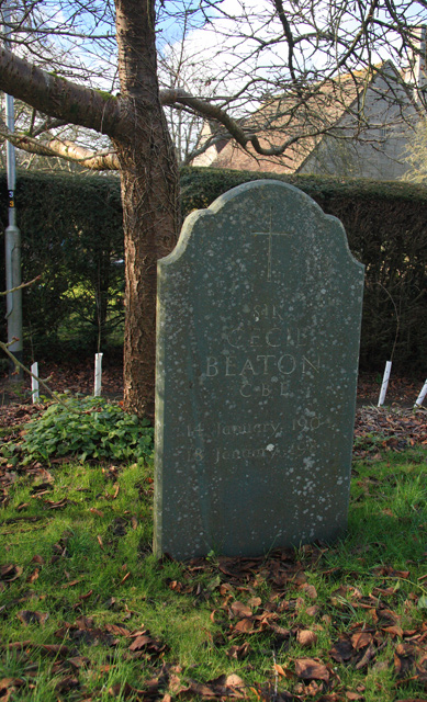 Grave of Sir Cecil Beaton - Broad Chalke Churchyard