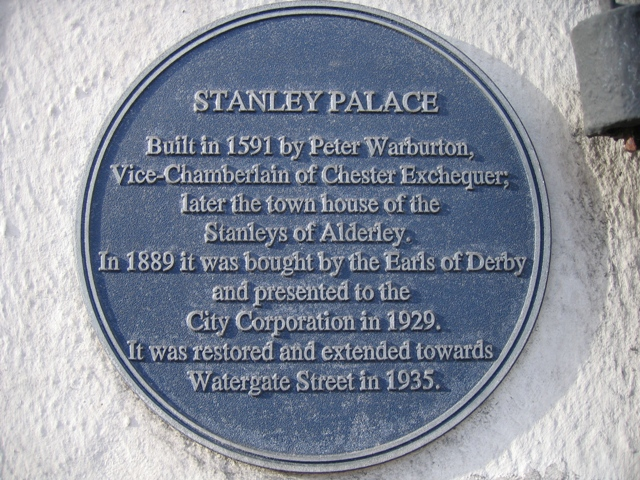 Blue plaque on Stanley Palace