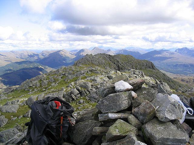 The summit of Beinn Resipol