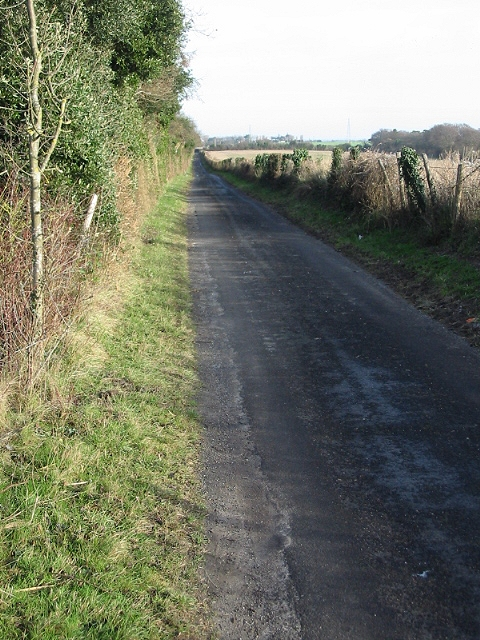 Looking NE along Thornton Lane