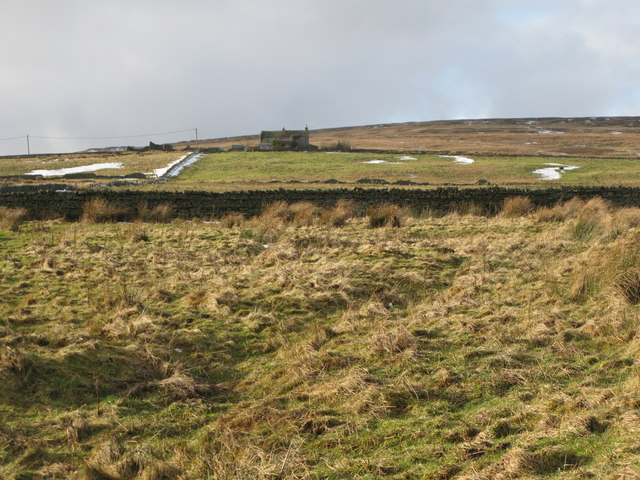 Rough pastures and moorland above Elpha Green