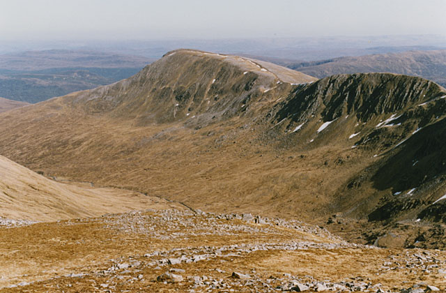 View southeast from Carn Eige