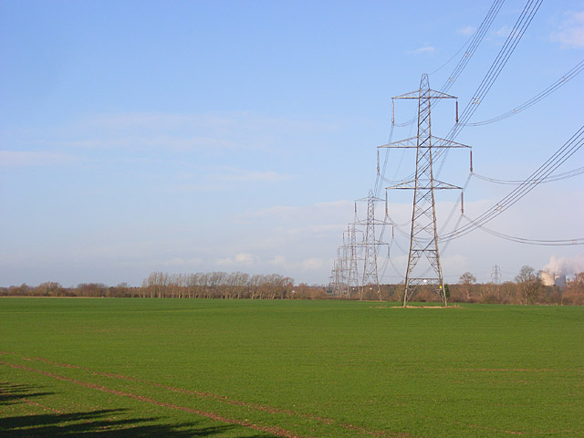 Farmland with pylons, Aston Tirrold