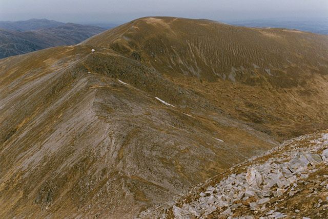 The ridge east of the Sron Garbh