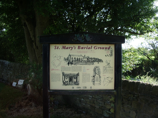 St Mary's Burial Ground, Clayton-Le-Moors, Sign