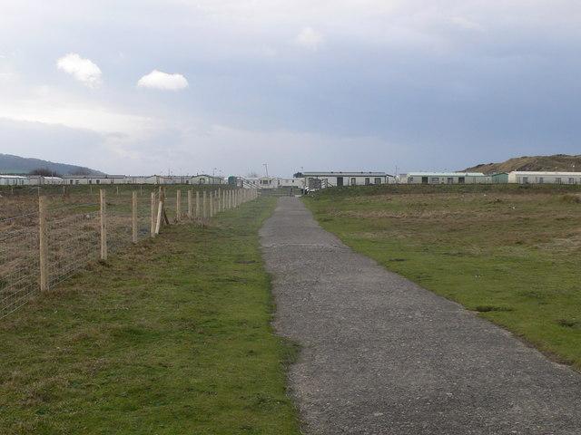 Approaching the caravan park
