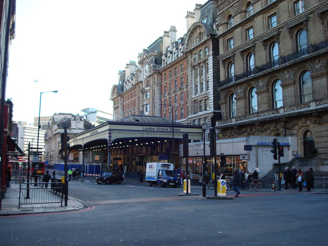 London Victoria Station, viewed from Buckingham Palace Road