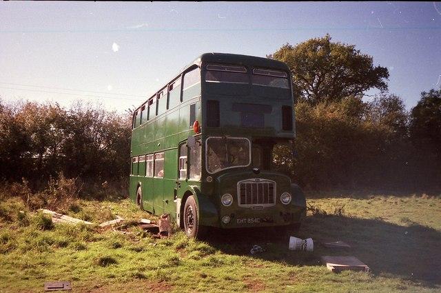 Hippy Bus in a field!