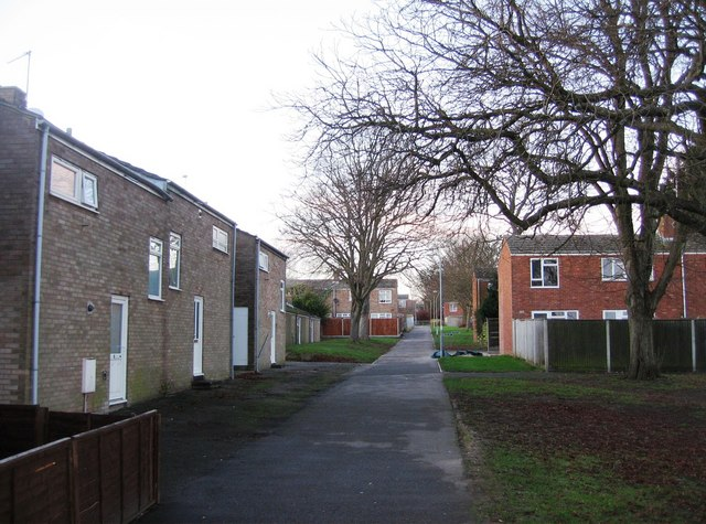 Path behind housing in Sycamore Way