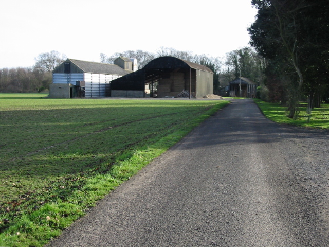 Home Farm on the small road to Knowlton Park