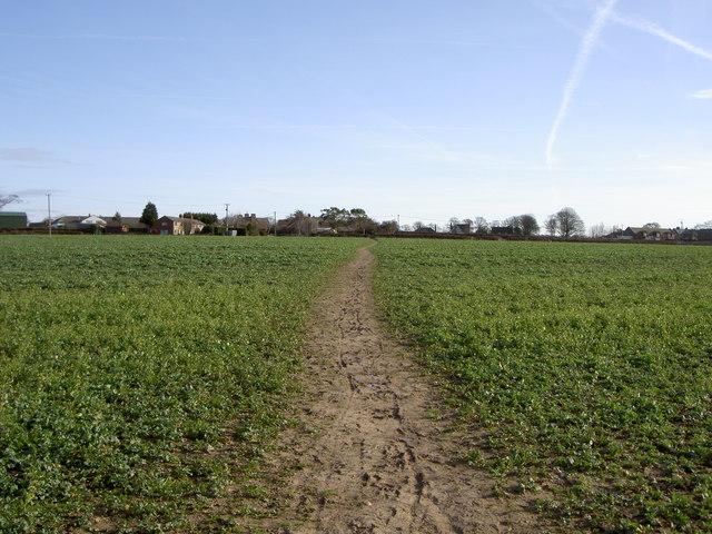 Footpath near Storeton