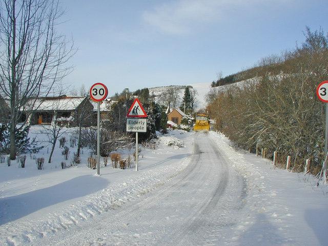 Road outside Doune Court