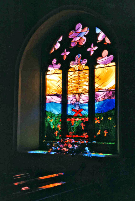 Stained Glass Window, St Mary's Church, Maldon, Essex