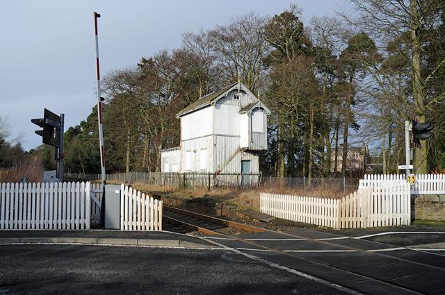 Level Crossing and Disused Signal Box Murthly