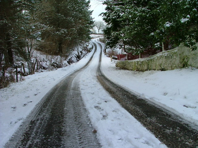Snowy Sheader Road