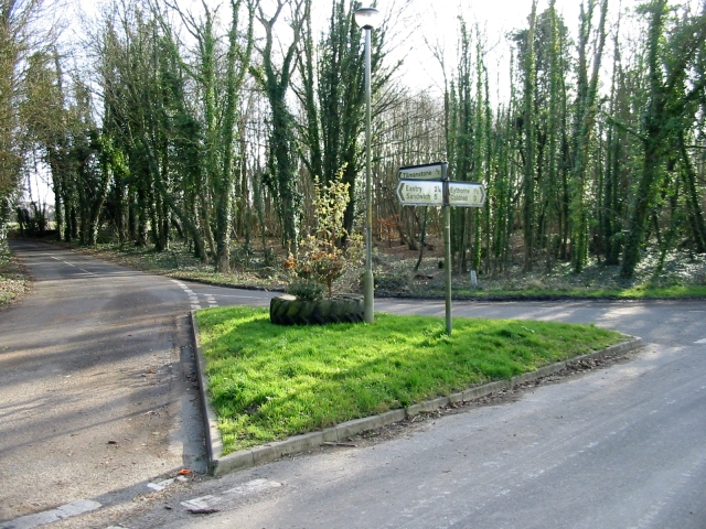 School Road junction from Pike Road