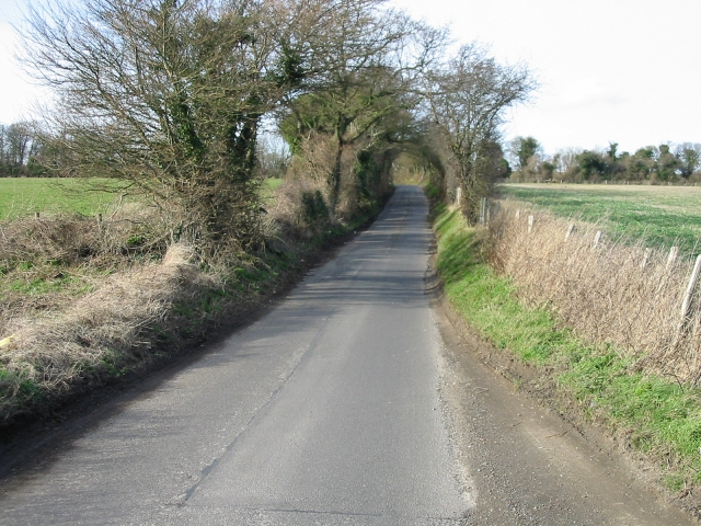 Looking NW along the road from Elvington