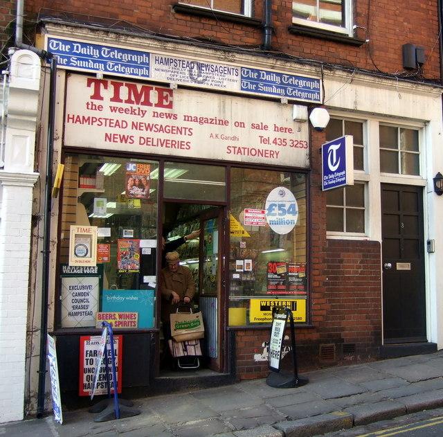 Newsagent, Hampstead