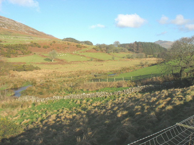 View back towards the footbridge over Afon Erch