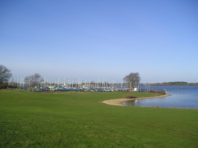 The boat park, Alton Watersports Centre