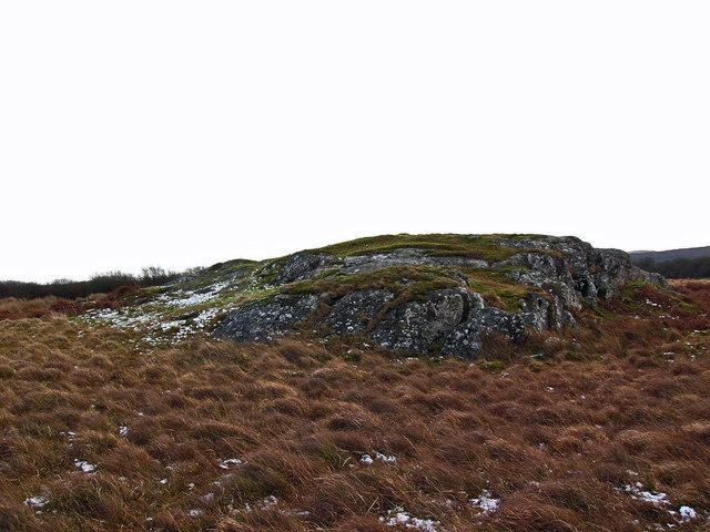 Roche moutonnée near Castle Loch
