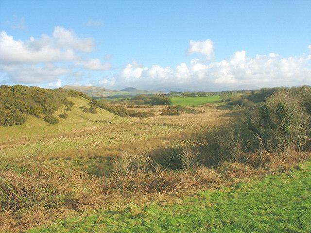The flood plain of Afon Erch