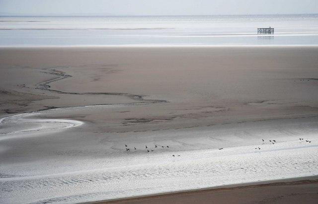 Looking over the Solway Sands
