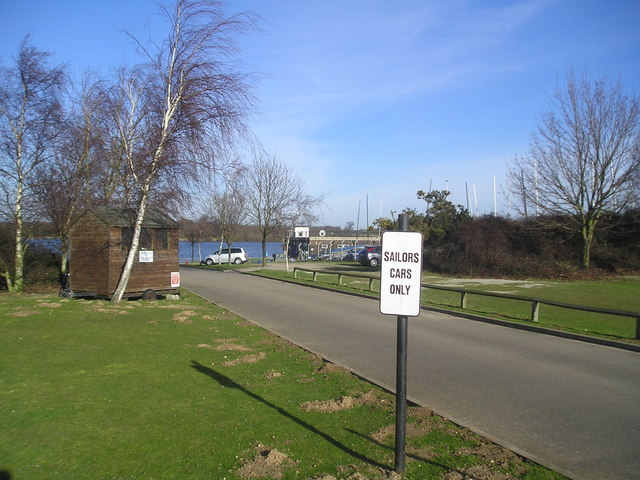 Sign at the entrance to Alton Watersports Centre