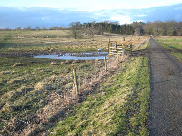 Minor road north of Kirkharle