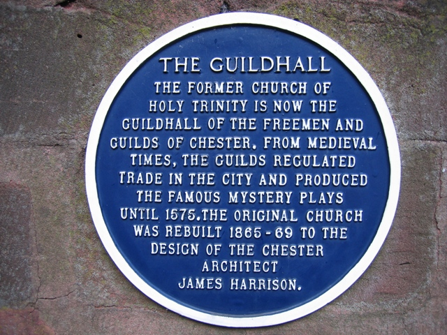 Blue Plaque on The Guildhall