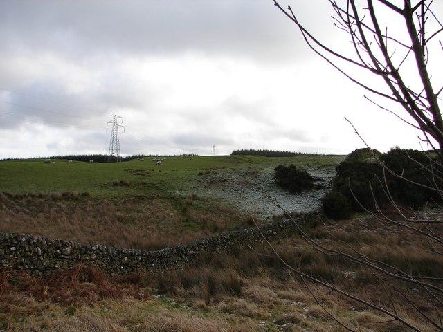 View SE toward Glengunnoch Hill