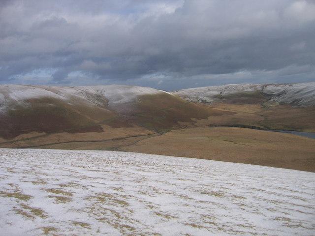 Esgair Rhiwlan yn yr eira / Esgair Rhiwlan in the snow