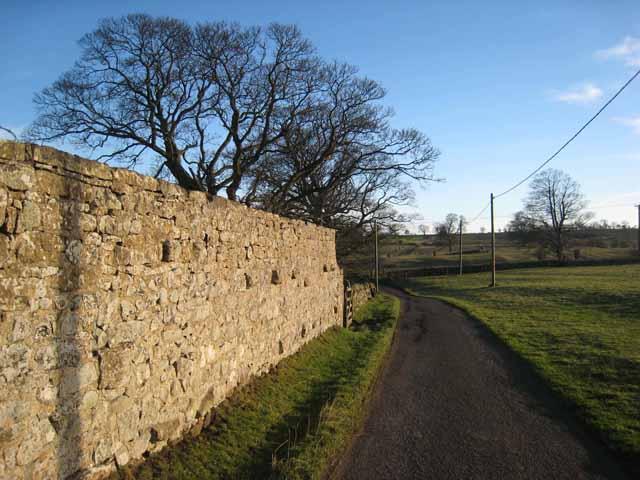 Wall at Kirkharle Manor