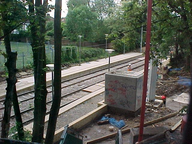 Morden Road Tramstop - under construction