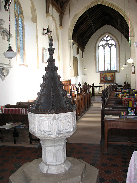 The church of St Andrew and All Saints - view east