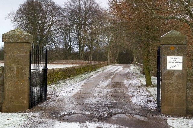 Entrance to Millden of Stracathro