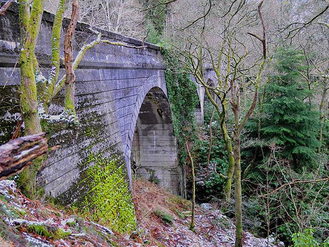 Concrete viaduct over the Allt an Fhionn burn