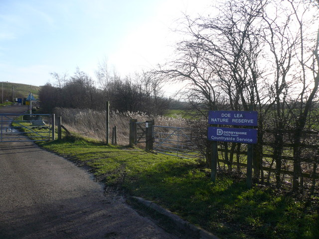 Doe Lea Nature Reserve Entrance