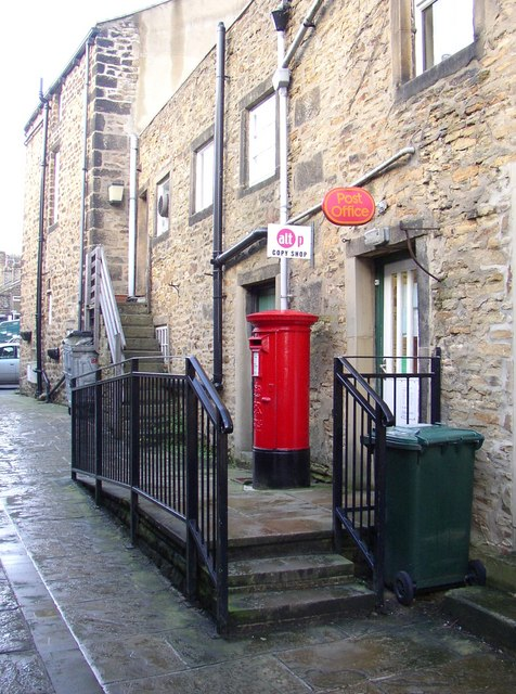 Back door of post office, George Street, Addingham