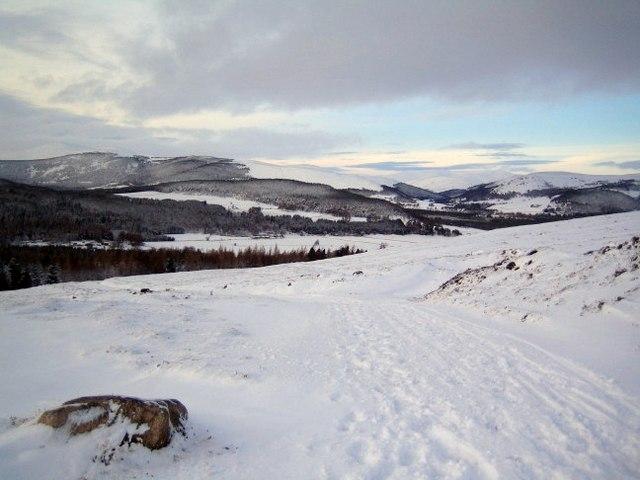 Mount Keen Road under snow