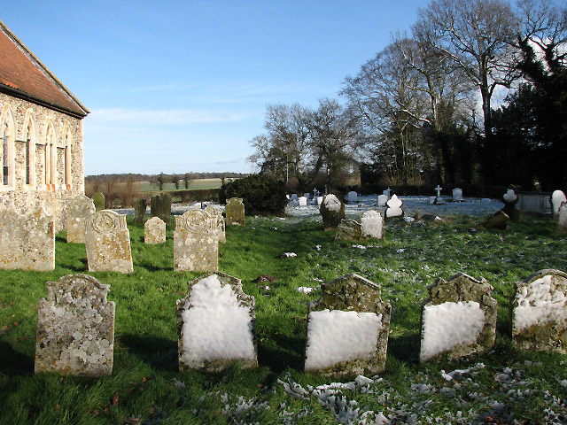 View from churchyard