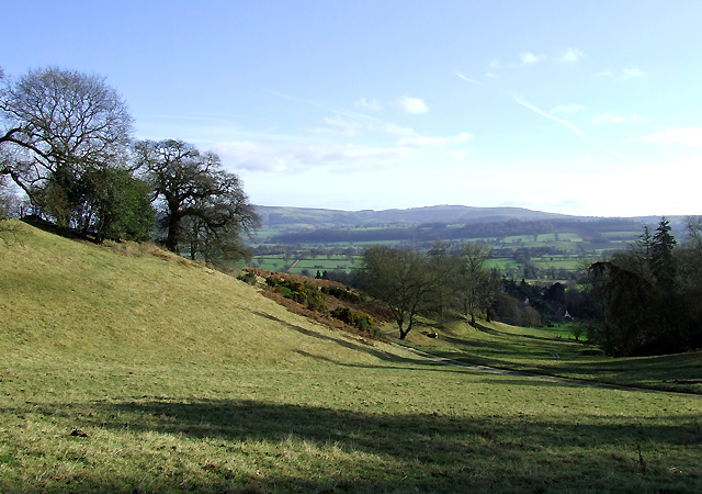 View across Corve Dale, near Munslow, Shropshire