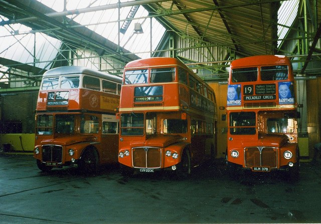 Ex-London Transport Routemaster Buses.