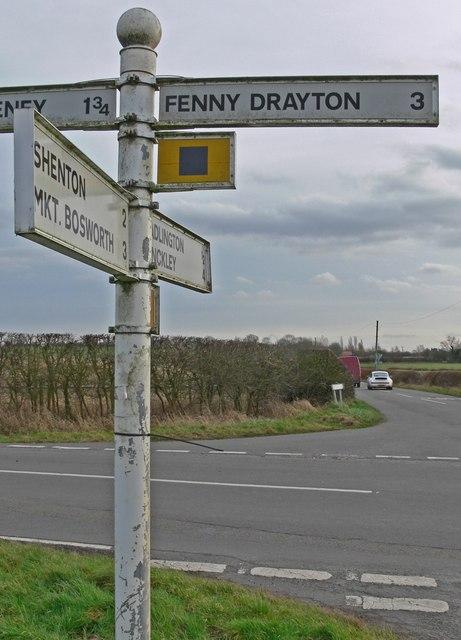 Crossroad on Fenn Lanes, Leicestershire