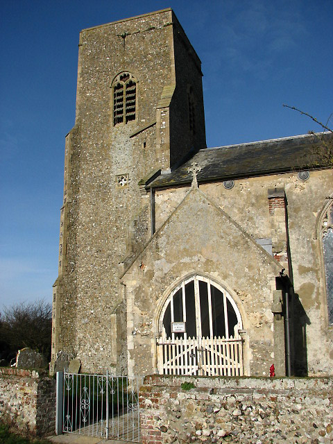 St Botolph's Church in Barford - porch and tower