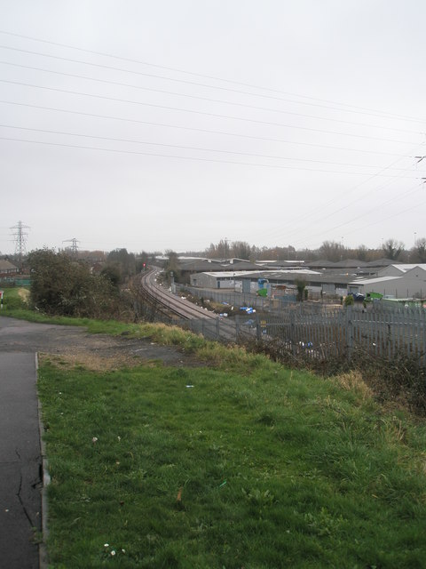 Railway line by playground in Medina Road